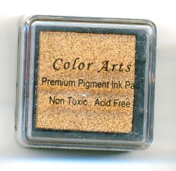 Color Arts Stempelkussen: 30 x 30 mm; copper
