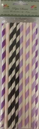 Dixi: Paper Straws; 20 stuks 6 mm x 197 mm, STRIPES