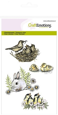 CE: Clear Stamp; birds - rabbit