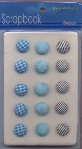 H&C: Fabric Brads; 15 pcs-15 mm