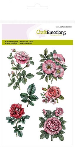 CE: Clear Stamp; Botanical Rose Garden 2