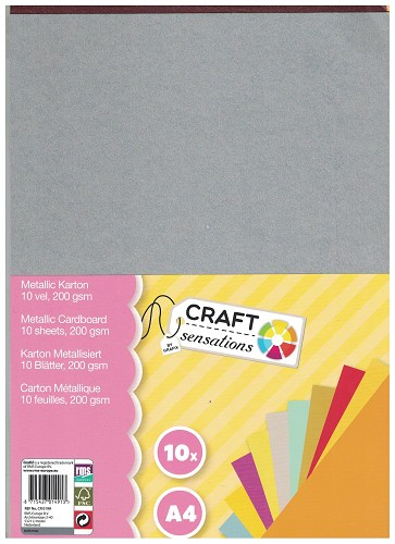 Craft Sensations: 10vel Metallic karton