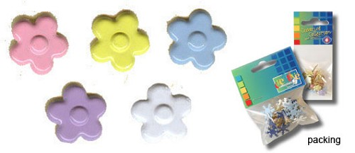 Vaessen: Paperfasteners; Flower soft, 9 mm, 25 pcs
