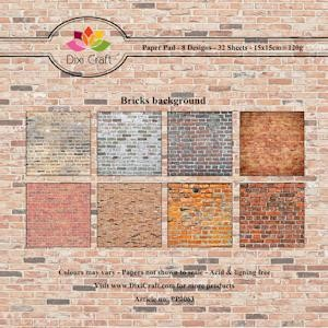 Dixi Paper Pack: 15x15; Bricks Background,