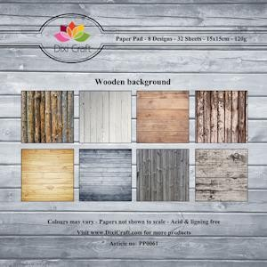 Dixi Paper Pack: 15x15; Wooden background,