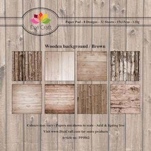 Dixi Paper Pack: 15x15; Wooden background, brown