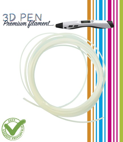 3D- pen: Filament 5 meter; GLOW IN THE DARK (GROEN-GEEL)