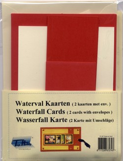 Watervalkaart: 2 pcs: Red