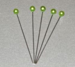 Ilse`s Craft: Parelknopspeld 65 x 6 mm: 10 pcs, Lime