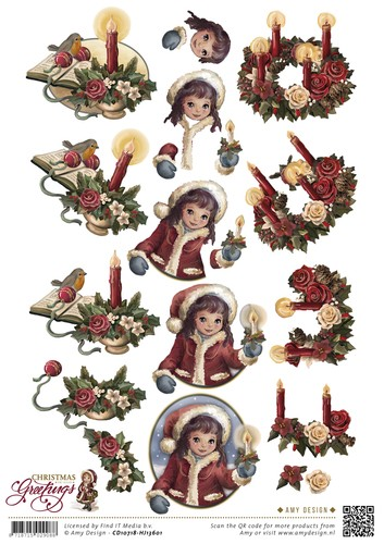 Amy Design - Christmas Greetings: Kerstkaarsen