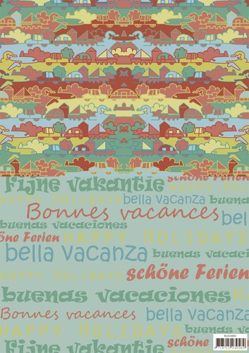 Yvonne Creations: Summer Holiday; Background sheet