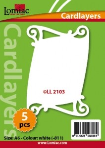 Lomiac: Cardlayer 5 pcs; white