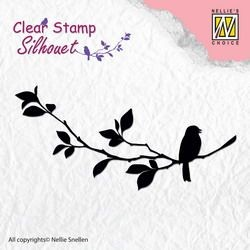 NS: Clearstamp; Silhouet, Birdsong 1