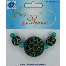 Dhondt: Crea Byoux Beads; Disc - slang - turquoise