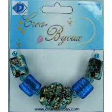 Dhondt: Crea Byoux Beads; Hanger - wolk - turquoise