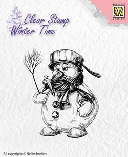 NS: Clear stamp; Winter Time, Snowman
