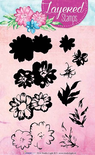 SL: Layered Clear Stamp; Flowers