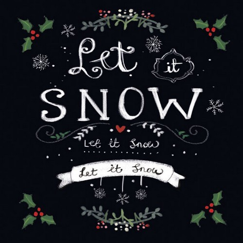 CE: 5 x servet; Let it snow