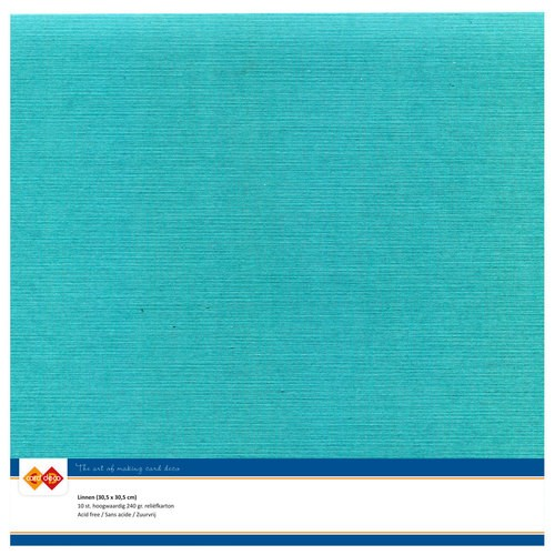 CD-LinenArt: 10 x Linnenkarton 305 x 305 mm; 240 grs, Emerald