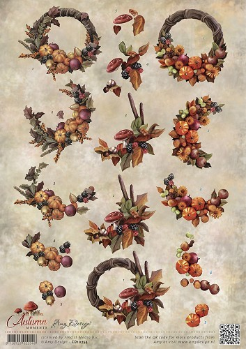 Amy Design: Autumn Moments; Herfstbloemen