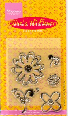 MD: Eline`s 3D Flowers; Clear Stamp