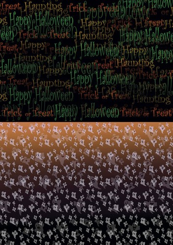 CD: Back ground sheet Happy Halloween