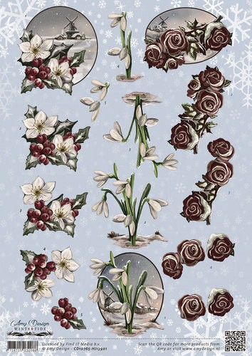 Amy Design - Wintertide - Flowers