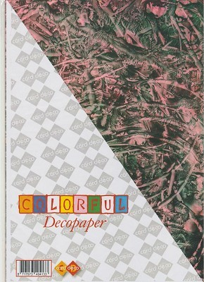 Carddeco: Decopaper A4; 5 pcs 200grs, Rose-Black