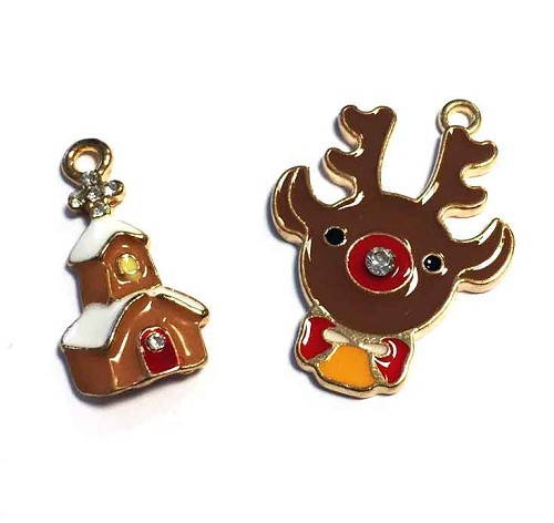 H&C: 2 x hanger; Funny Reindeer and Church