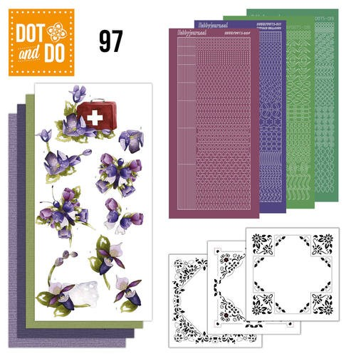 Dot and Do 97: Purple Flowers