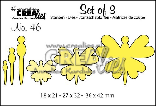 Crealies: Set of 3; 46, vlinders 8