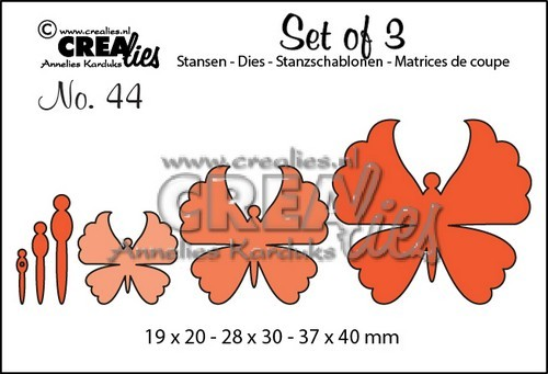 Crealies: Set of 3; 44, vlinders 6