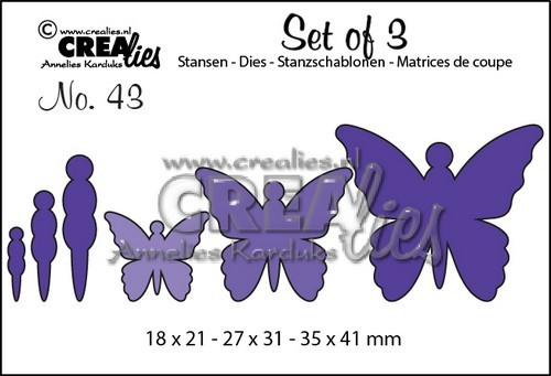 Crealies: Set of 3; 43, vlinders 5