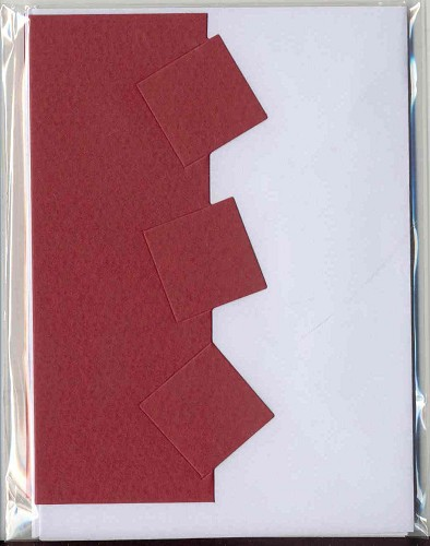 Romak: Blokkaart; 4pcs, Red
