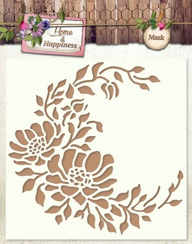 SL: Masking Stencil; Home and Happiness, Bloemen