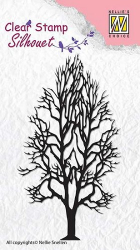 NS: Clear stamp; Silhouet, Tree-2