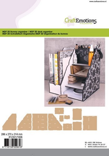 Voorkeur CE: MDF 3D Bureau Organiser - 286x270x314mm Welkom op de internet DU53