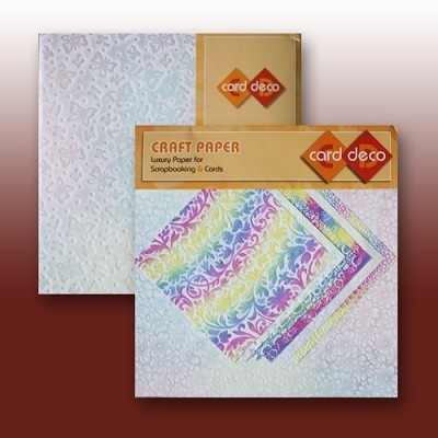 "Carddeco Craft Paper: 6 x 12"" & 6""; Multicolor"
