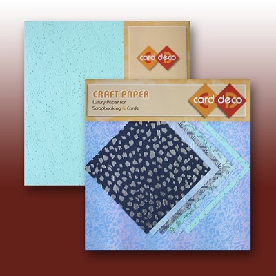 "Carddeco Craft Paper: 6 x 12"" & 6""; Mint-Blue"