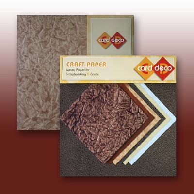 "Carddeco Craft Paper: 6 x 12"" & 6""; Brown"
