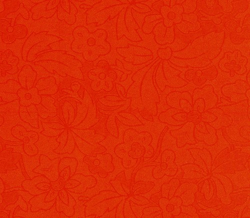 FI: 5 pcs Embossed paper A4; Flower & Leaves, Rust-Orange
