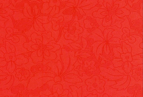 FI: 5 pcs Embossed paper A4; Flower & Leaves, Red
