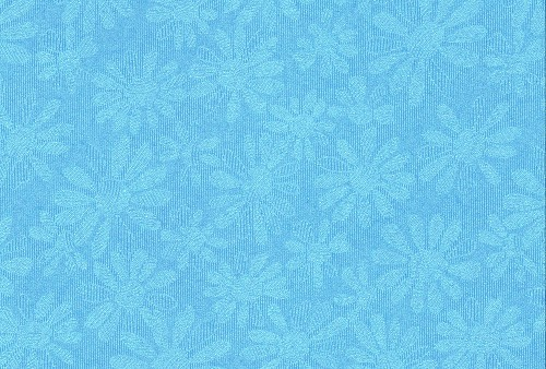 FI: 5 pcs Embossed paper A4; Daisy, Blue
