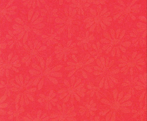 FI: 5 pcs Embossed paper A4; Daisy, Red