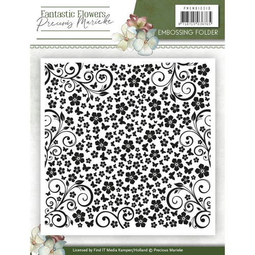 Precious Marieke: Fantastic Flowers; Embossing Folder