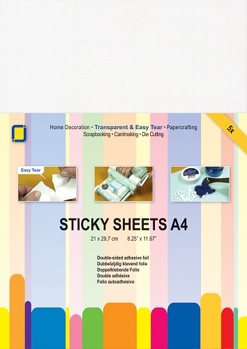 JeJe: 5 x Sticky Sheets A4