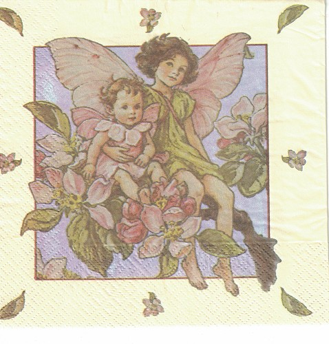 3 x servet: Flower Fairies; Apple Blossom