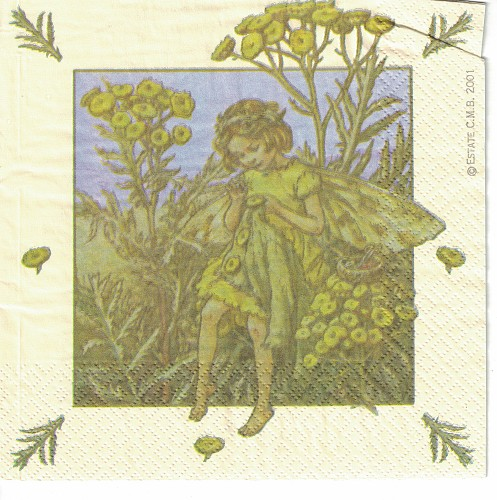 3 x servet: Flower Fairies; The Tansy fairie
