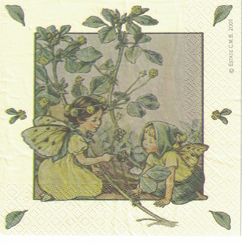 3 x servet: Flower Fairies; The Black Medick fairie