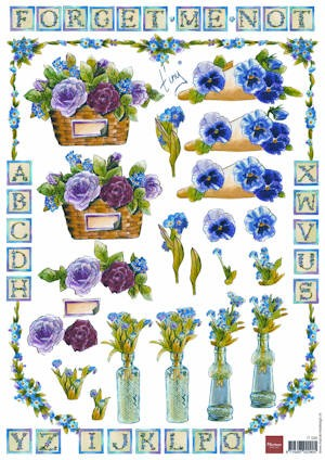 It: Forget Me Not; Flowerbasket